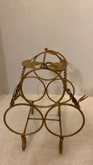 Gold leaf wine rack for Sale in Whittier, CA