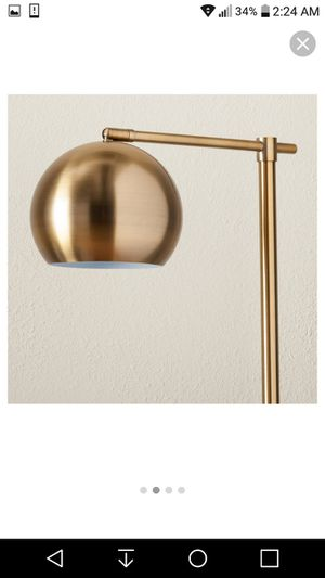 Brand New! Threshold single brass globe floor lamp for Sale in Jacksonville, FL