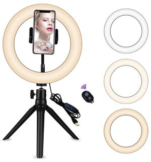 "9"" Portable Led Ring Light with Stand &Selfie Ring Light Cell Phone Holder and Remote Control for Live Streaming in YouTube, Facebook, Take Video,Mak for Sale in Orlando, FL"
