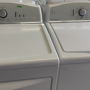 Kenmore Top Load Washer And Electric dryer set heavy duty delivery and installation available fee depends on address for Sale in Houston, TX