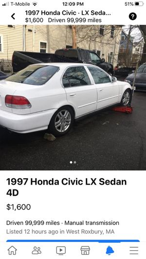 97 Honda Civic SiR 4door trade or sell for Sale in Boston, MA
