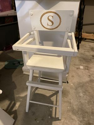 Antique baby doll high chair for Sale in Orting, WA