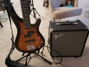 Bass guitar with amp & extras for Sale in Las Vegas, NV