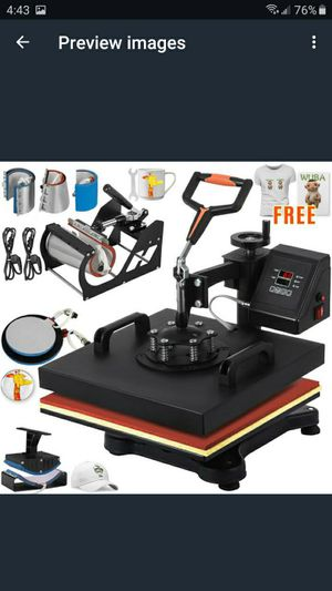 VEVOR Heat Press 5 in1/6in1/8in1 Heat Press Machine for Sale in Moreno Valley, CA