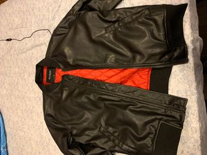Guess leather jacket size large for Sale in Aspen Hill, MD
