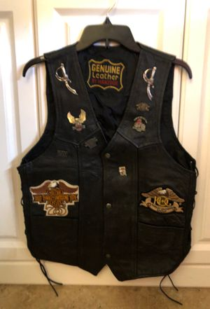 Genuine leather vintage men's motorcycle vest for Sale in Palm Beach Gardens, FL