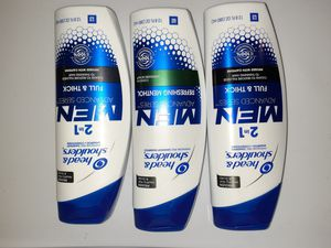 3 Bottles mens heas and shoulders shampoo and conditioner for Sale in Erie, PA