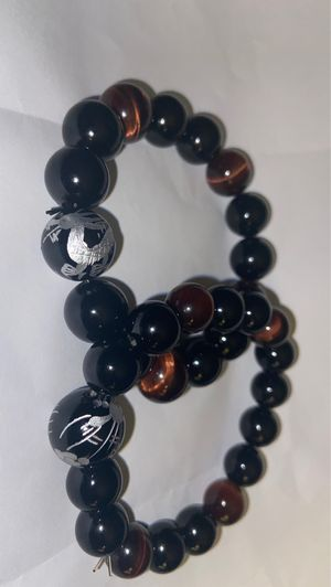 Tiger eye stone and black agate stone Bracelets for Sale in Oceanside, CA