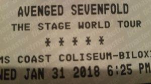 Avenged Sevenfold ticket for Sale in Baton Rouge, LA