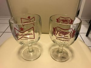 Budweiser Miller High Life Beer Collectible Glass for Sale in Coral Gables, FL