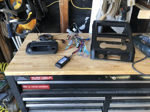 Rear camera stereo harness and aftermarket bracket for stereo for Sale in Federal Way, WA