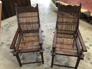 Antique Chinese chairs authentic hardwood for Sale in Portland, OR