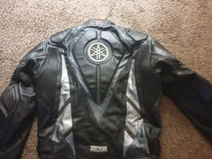 Yamaha leather motorcycle jacket for Sale in Arcadia, CA