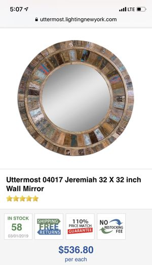 Uttermost 04017 Jeremiah 32 X 32 inch Wall Mirror for Sale in Gahanna, OH