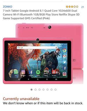 Zonko 7' tablet for Sale in Murfreesboro, TN