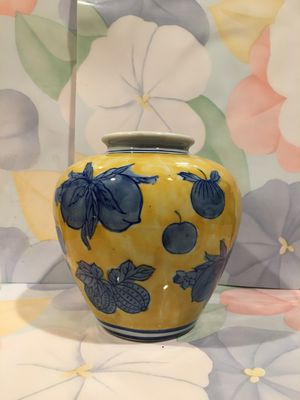 Antique Chinese Yellow & Blue Cloisonne Ginger Jars for Sale in Blandford, MA
