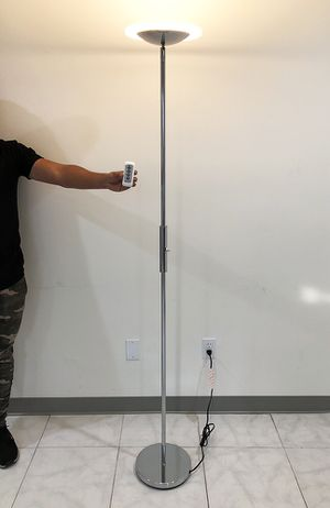 New $40 LED 6' Tall Floor Lamp w/ Wireless Remote Light Dimmable & Tilt Left/Right for Sale in South El Monte, CA