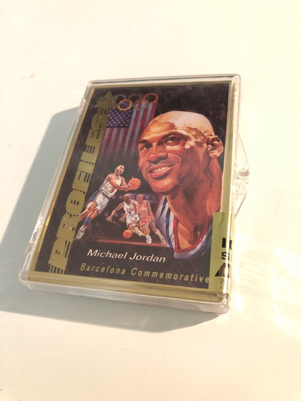 Michael jordan USA rare? set basketball card sealed brand new GOLD border limited edition