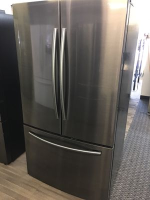 Samsung Black Stainless Steel French Door Refrigerador Scraches Dent With Warranty No Credit Check Just $39 Down payment Cash Price $1,300 for Sale in Dallas, TX