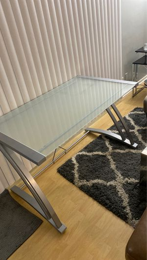Frosted glass top office desk for Sale in Los Angeles, CA