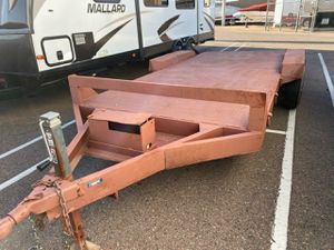 Dual axle steel deck car hauler trailer for sale clean title for Sale in Mesa, AZ