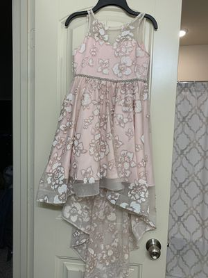 Size 7 Girl pink dress for Sale in Houston, TX