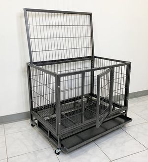 """(NEW) $110 Heavy Duty 36x24x29"""" Large Dog Cage Pet Kennel Crate Playpen w/ Wheels for Large Pets for Sale in Pico Rivera, CA"""