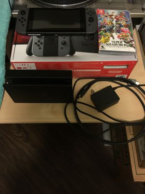 Nintendo Switch console with Super Smash Bros Ultimate for Sale in Sunrise, FL