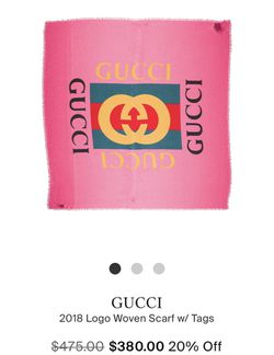 GUCCI AUTHENTIC SCARF for Sale in Oxford,  MA