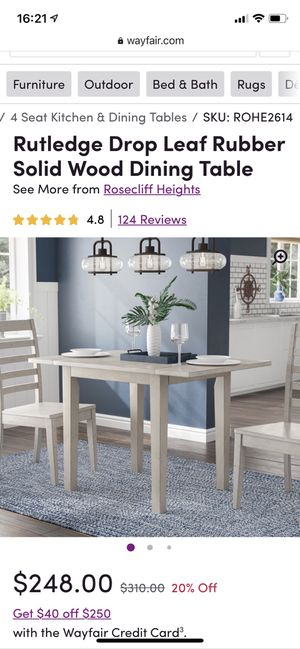 Drop Leaf Wood Dining Table for Sale in Redmond, WA
