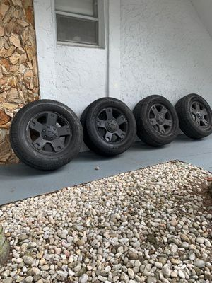 18' Black wheels for truck and jeeps for Sale in Pompano Beach, FL