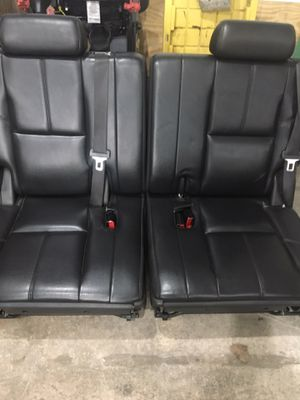 Black leather suburban third row seats for Sale in Maplewood, MN