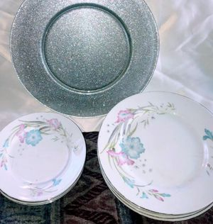 Set of 4 each dinner plates and appetizers plates & LG serving plate for Sale in Providence, RI