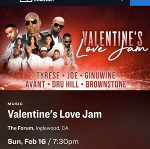 Valentine's love jam tickets for Sale in Long Beach, CA