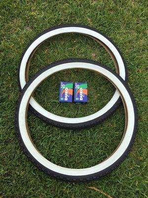 NEW Duro 26x2.125 Beach Cruiser Bike Bicycle Tires Whitewall KNOBBY for Sale in West Covina, CA