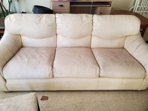 White leather couches for Sale in Las Vegas, NV