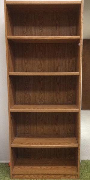 5-shelf Bookcase, woodgrain, USED for Sale in Glendale, AZ