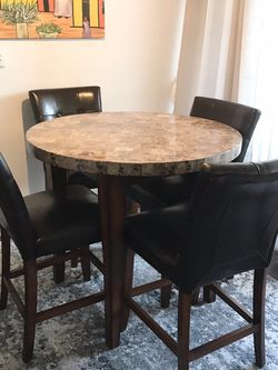 Counter Height Granite And Brown Wood Dining Room Set for Sale in Phoenix,  AZ