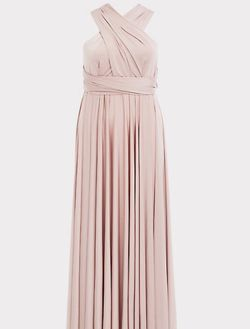 SPECIAL OCCASION PINK SHINY KNIT CONVERTIBLE MAXI DRESS for Sale in Milford Mill,  MD