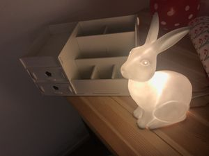 Collecting box and Porcelain rabbit lamp combo sale for Sale in Rockville, MD