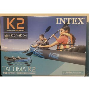 NEW Intex Tacoma K2 Two-Person Inflatable Kayak (Pump, Paddles, & Bag) for Sale in McKinney, TX