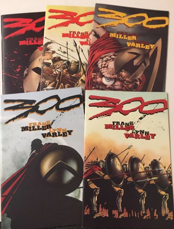 300 (Frank Miller Dark Horse comic book set #1-5 NM)