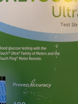 One Touch Ultra Test Strips 100ct for Sale in Lynnwood,  WA