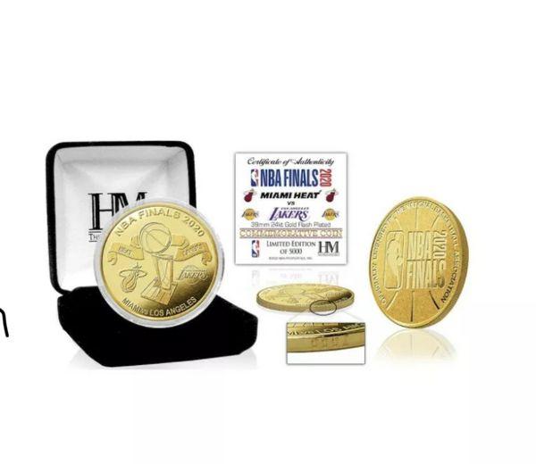 Los Angeles Lakers vs. Miami Heat 2020 NBA Finals Gold Coin!