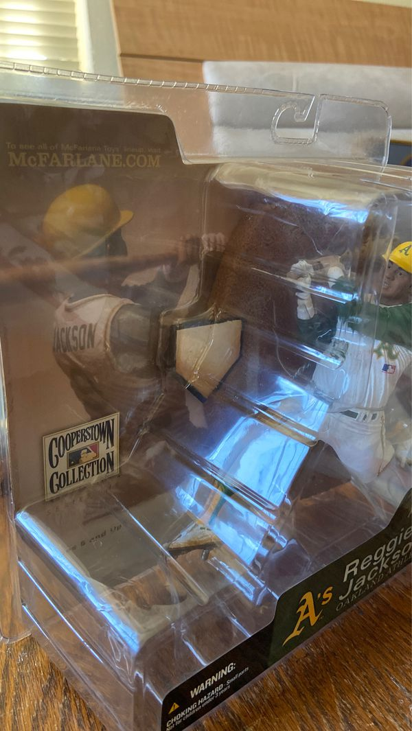 Oakland A's McFarlane 2004 Cooperstown Collection Reggie Jackson CHASE Action Figure- Nice Condition!