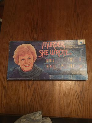 Vintage murder she wrote board game! Complete! for Sale in San Diego, CA