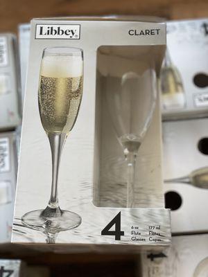 New Libbey Claret 6 oz Flute glass set. for Sale in Manson, WA
