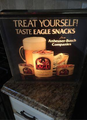 """Anheuser bush """"eagle snacks"""" display sign for Sale in Evesham Township, NJ"""