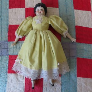 """Antique China Head Doll with porcelain arms dress boots 18"""" for Sale in Buda, TX"""