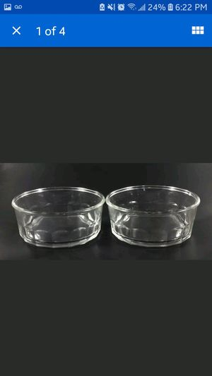 Clear cut glass ribbed casserole dish bowl set made in the USA for Sale in Ada, OK
